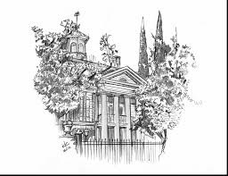 Outstanding Disneyland Haunted Mansion Coloring Pages With And Castle