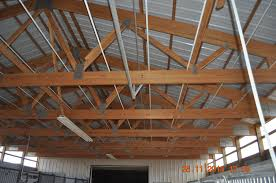 Roof Insulation in a Pole Barn Roof Insulation installed at the
