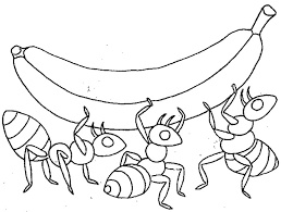 Ants Food Coloring Page