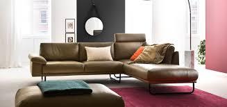 schöner wohnen ledersofa schlafzimmer ideen hellblau