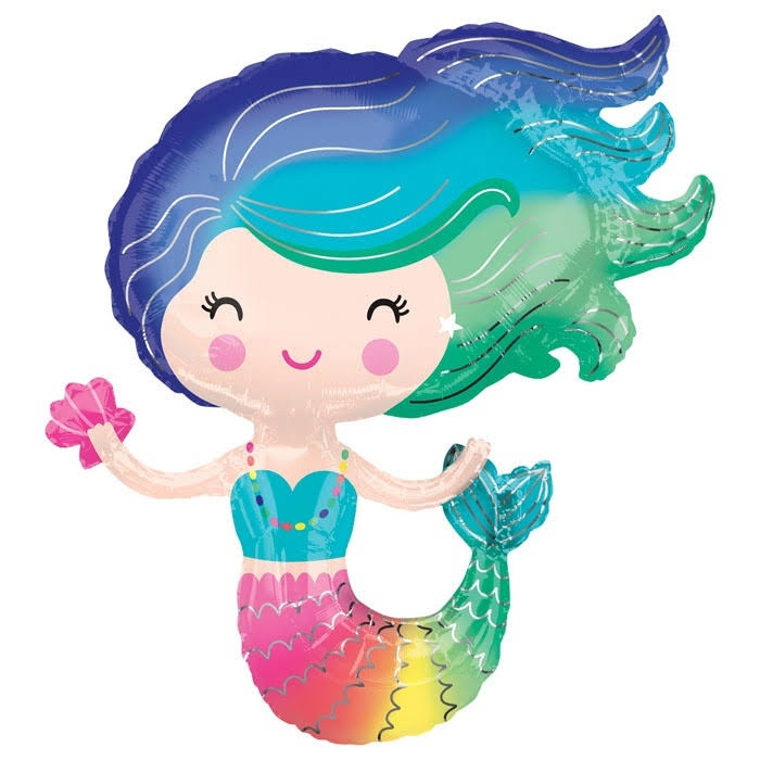 "30"" Colorful Mermaid Jumbo Foil Balloon"