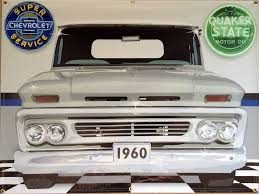 1960 CHEVY CHEVROLET TRUCK WHITE GARAGE SCENE Neon Effect Sign ...