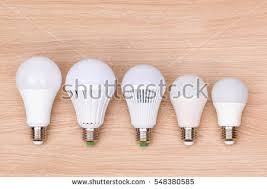 different types led light bulbs on stock photo 548380585