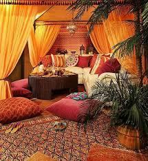 stoffe und texturen im orientalischen wohnzimmer wohnung