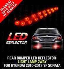 rear bumper led reflector light l 2way fit hyundai 2010 2013