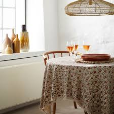 tischdecke boho style mit fransen bedruckt cover w fringes ca 150 x 150 cm madam stoltz