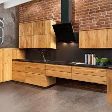 moderne loft küche quadro einbauküche l form 3 7m x 1 9m eichenholz massiv