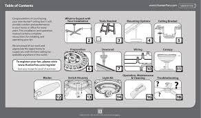 hunter contempo 52 ceiling fan manual best ceiling 2017