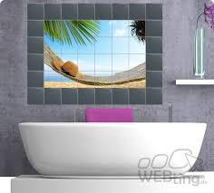fliesenaufkleber fliesenbild fliesen aufkleber sticker badezimmer strand folie