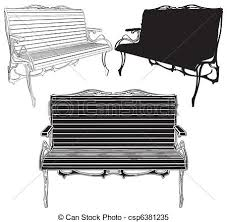 Park bench vector clipart vector Search Illustration Drawings
