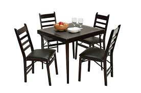 Amazon Cosco Folding Espresso Wood Table Square With Vinyl Inset Kitchen Dining