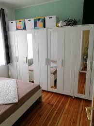 schrank kleiderschrank schlafzimmer regal spiegel weiß ikea