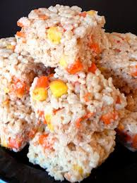 Rice Krispie Halloween Treats Candy Corn by Baked Perfection November 2009