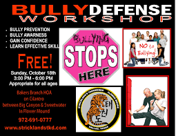 Stricklands Taekwondo Bakers Branch HOA Anti Bully And Womens