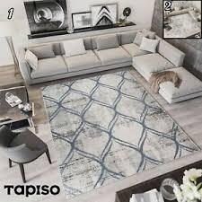 details zu teppich kurzflor modern in creme grau gitter marokkanisch designer wohnzimmer
