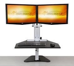 Multiple Monitor Standing Desk by Kangaroo Elite Adjustable Height Desk Ergo Desktop