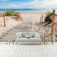 details zu vlies fototapete 3d strand dünen meer nordsee wohnzimmer tapete landschaft 3