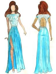 Drawn Fashion Designed Clothes