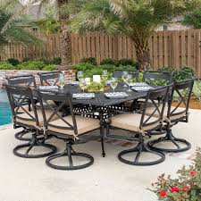 8 Person Outdoor Table by 28 8 Person Patio Table Audubon 8 Person Aluminum Patio