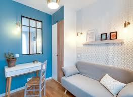 couleur pour bureau idée couleur mur pour délimiter et structurer espace côté maison