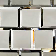 Bathroom Mosaic Mirror Tiles by Dark Gray Beveled 4x4 Mirror Tile Tilebar Com