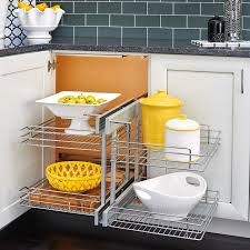 35 Inch Cabinet Pulls Chrome by Rev A Shelf Blind Corner Cabinet Pull Out Chrome 2 Tier Basket