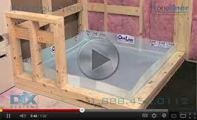 Durock Tile Membrane Canada by Oneliner Instruction Videos Shower Pan Liner Shower Pan