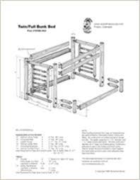 Dimensions Log Bunk Beds Intersafe
