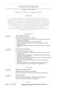 Ios Application Developer Resume Example