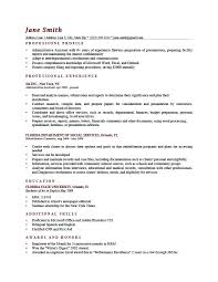 Profile Example On Resume Brick Red Examples For Administrative Assistant