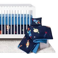 sweet jojo designs space galaxy 11pc crib bedding set blue target