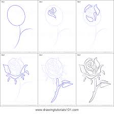 How To Draw A Rose Tattoo Printable Step By Drawing Sheet DrawingTutorials101