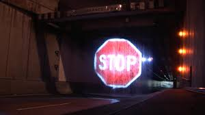 100 Truck Stop Stories LaserProjected Sign Seeks To Prevent Accidents The
