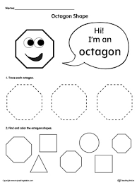 Trace And Color Octagon Shapes