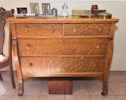 Vintage Tiger Oak Dresser by Pomona Drive Mesilla Valley Estate Sales