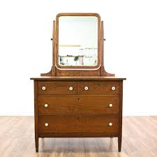 Tiger Oak Serpentine Dresser by This Antique Vanity Dresser Is Featured In A Solid Wood With A