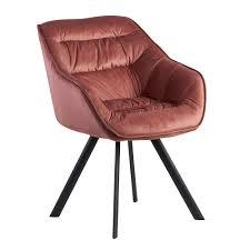wohnling esszimmerstuhl samt rosa gepolstert küchenstuhl mit schwarzen beinen moderner schalenstuhl mit armlehnen design polsterstuhl stoffbezug
