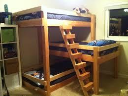 l shaped triple bunk bed plans free home design ideas