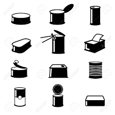 Cans food canned goods vector icons Food cans illustration container cans food isolated