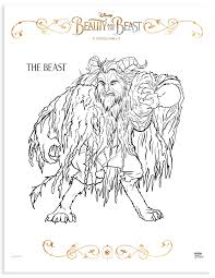 Beauty And The Beast Printable Coloring Pages Activities