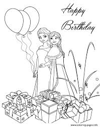 Frozen Sisters Birthday Colouring Page Coloring Pages Print Download 535 Prints