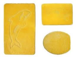 badgarnitur 3 tlg delphin in gelb badvorleger wc bezug