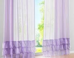 Purple Ruffle Curtain Panel by Ruffled Curtains Etsy