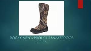 rocky men u0027s prolight snakeproof boots youtube