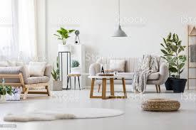 wohnzimmer mit zwei sofas stockfoto und mehr bilder beige