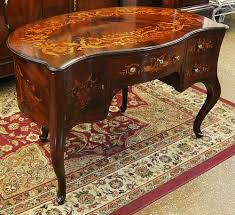 Maitland Smith Kidney Desk by Antique Desks And Library Tables