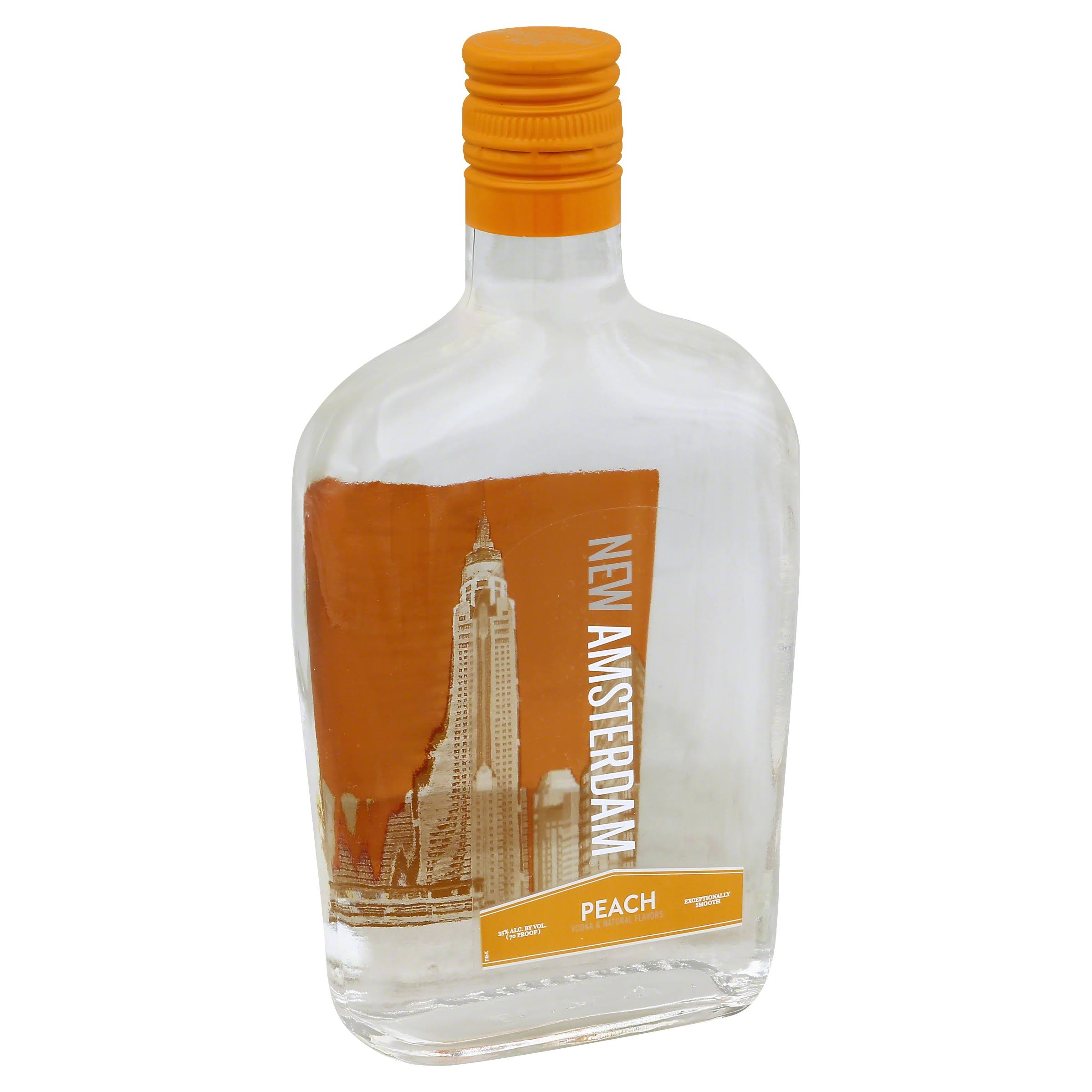 New Amsterdam Peach Vodka - 24 pack, 375 ml