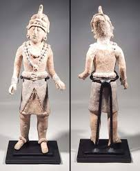 Ancient Maya Jaina Island Standing Figure Custom Display Stand