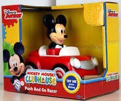 Mickey Mouse Bathroom Set Amazon by Amazon Com Disneys Mickey Mouse Mouse Push And Go Racer Car Toys
