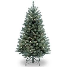 National Tree Company 4 1 2 North Valley Blue Spruce With 300 Clear